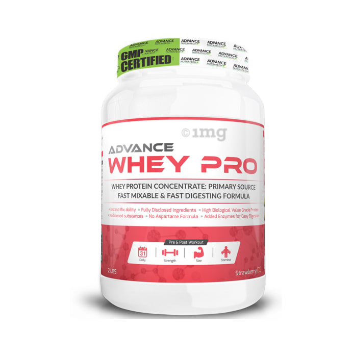 Advance Nutratech Whey Pro Protein Powder Strawberry