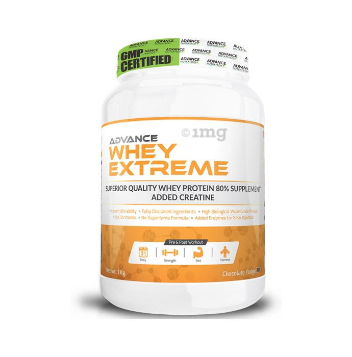 Advance Nutratech Whey Extreme Protein Powder Chocolate Fudge