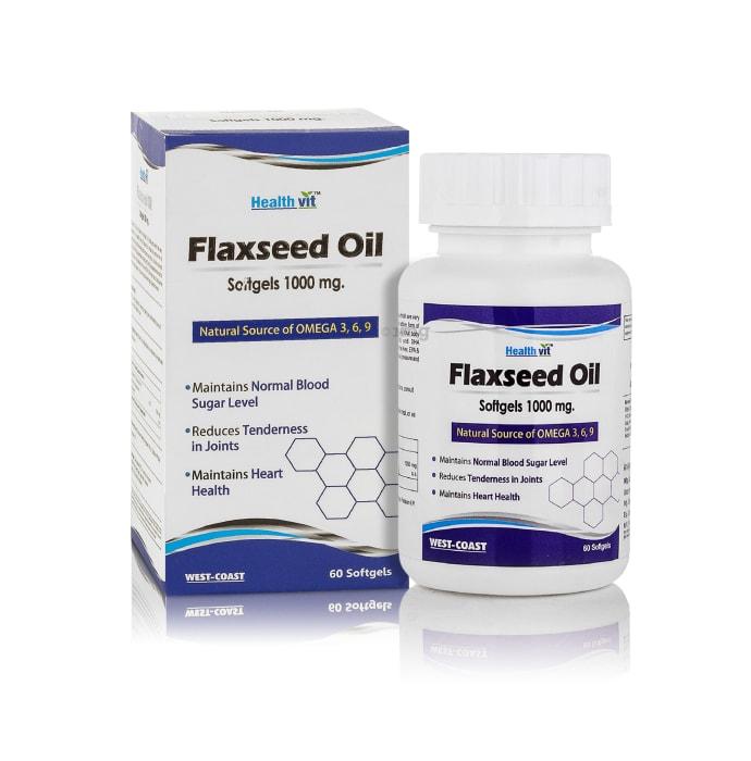HealthVit Flaxseed Oil 1000mg Capsule