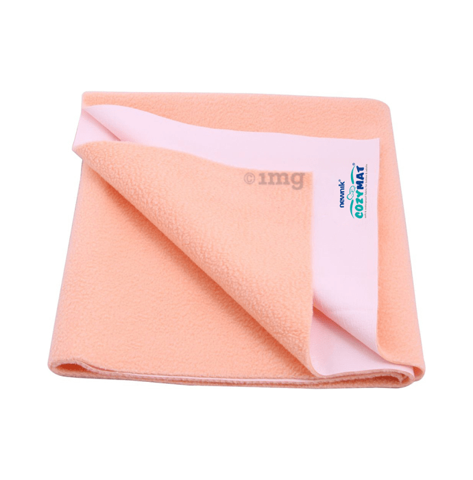 Newnik Cozymat, Dry Sheet, (Size: 200cm X 260cm) Double Bed Peach