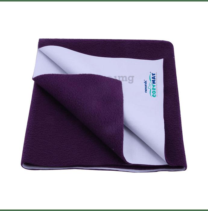 Newnik Cozymat, Dry Sheet (Size: 140cm X 220cm) Single Bed Plum