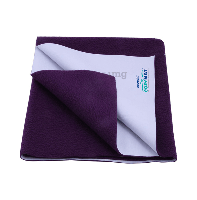Newnik Cozymat, Dry Sheet (Size: 70cm X 100cm) Medium Plum