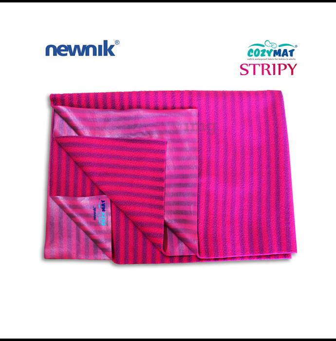 Newnik Cozymat Stripy Soft (Narrow Stripes),(Size: 100cm X 140cm) Large Ruby