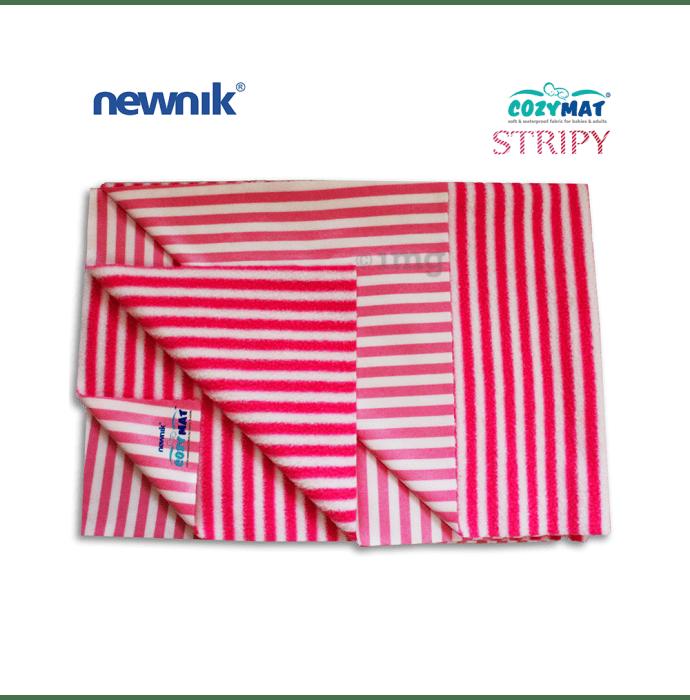 Newnik Cozymat Stripy Soft (Narrow Stripes),(Size: 100cm X 140cm) Large Marshmallow