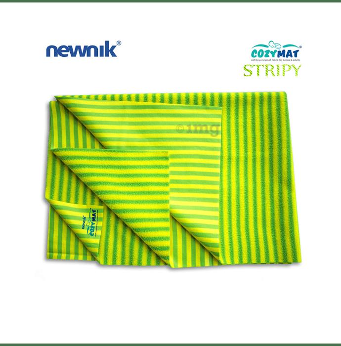 Newnik Cozymat Stripy Soft (Narrow Stripes),(Size: 100cm X 140cm) Large Green Apple