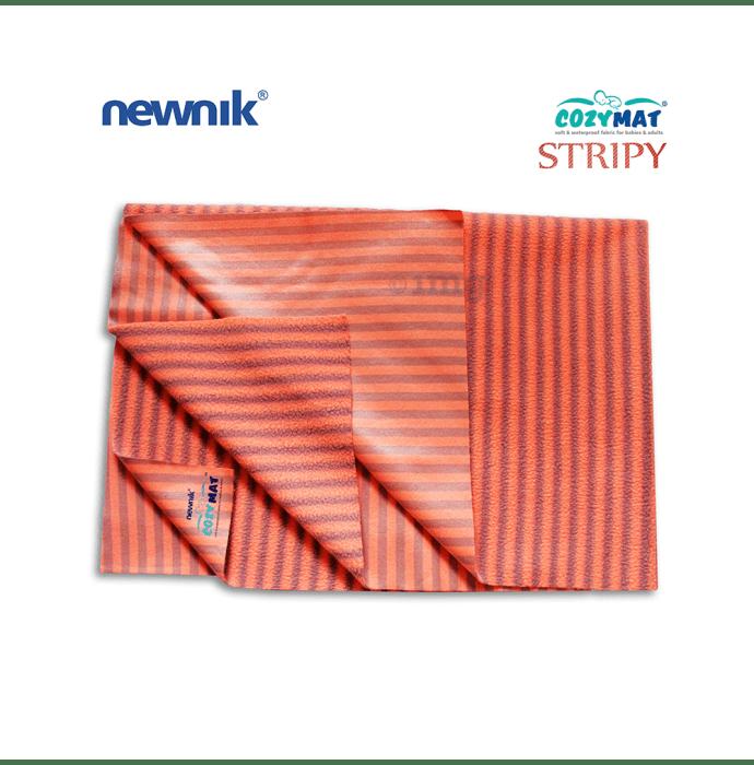 Newnik Cozymat Stripy Soft (Narrow Stripes),(Size: 100cm X 140cm) Large Coral