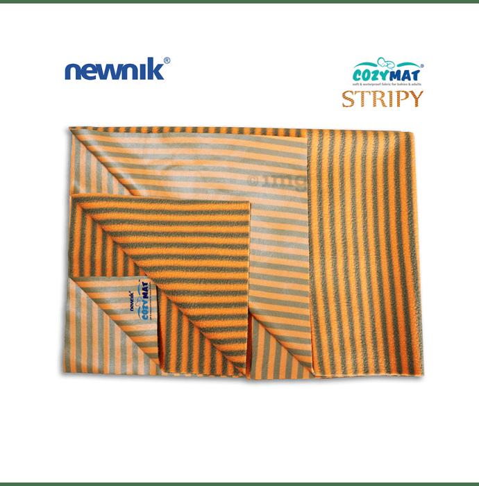 Newnik Cozymat Stripy Soft (Narrow Stripes),(Size: 100cm X 140cm) Large Butterscotch