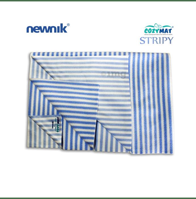 Newnik Cozymat Stripy Soft (Narrow Stripes),(Size: 100cm X 140cm) Large Blueberry