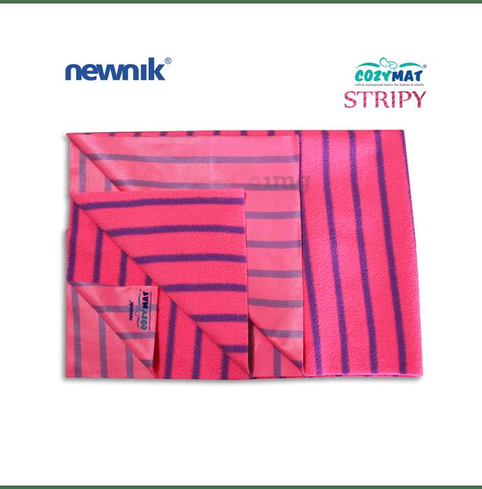 Newnik Cozymat Stripy Soft (Broad Stripes),(Size: 100cm X 140cm) Large Flamingo
