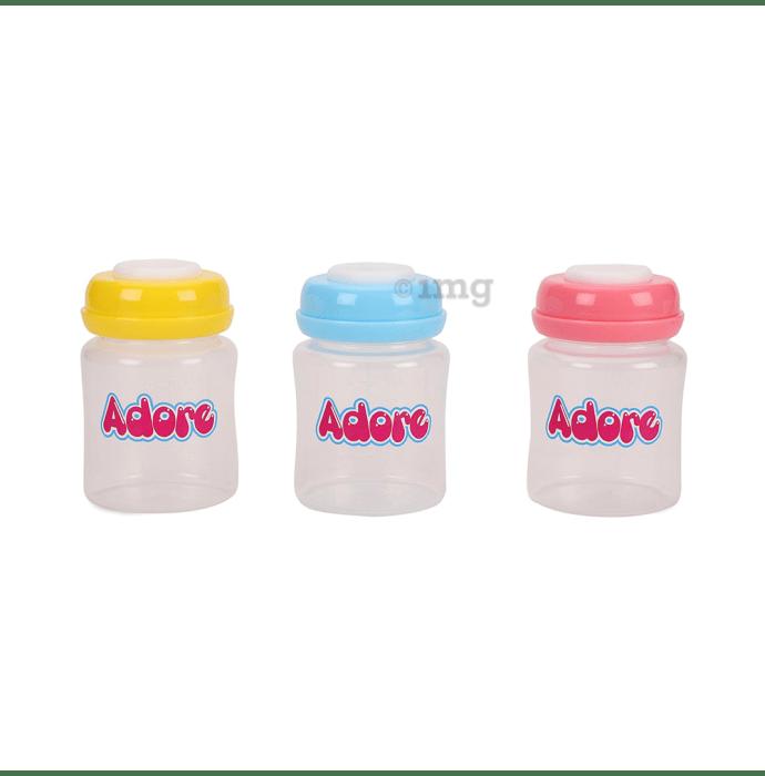 Adore Breast Milk Storage Bottles Multicolor