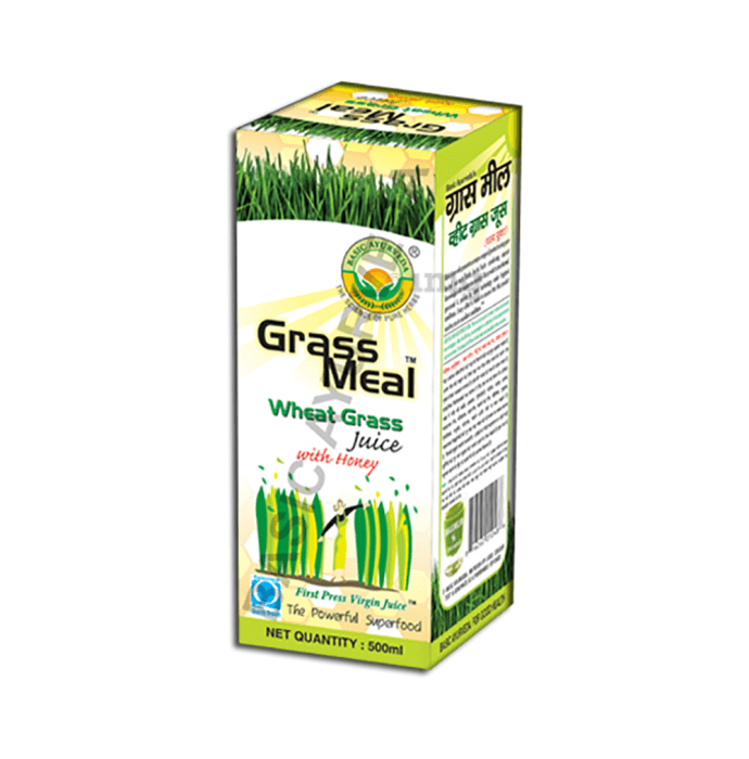 Basic Ayurveda Grass Meal Wheat Grass Juice with Honey
