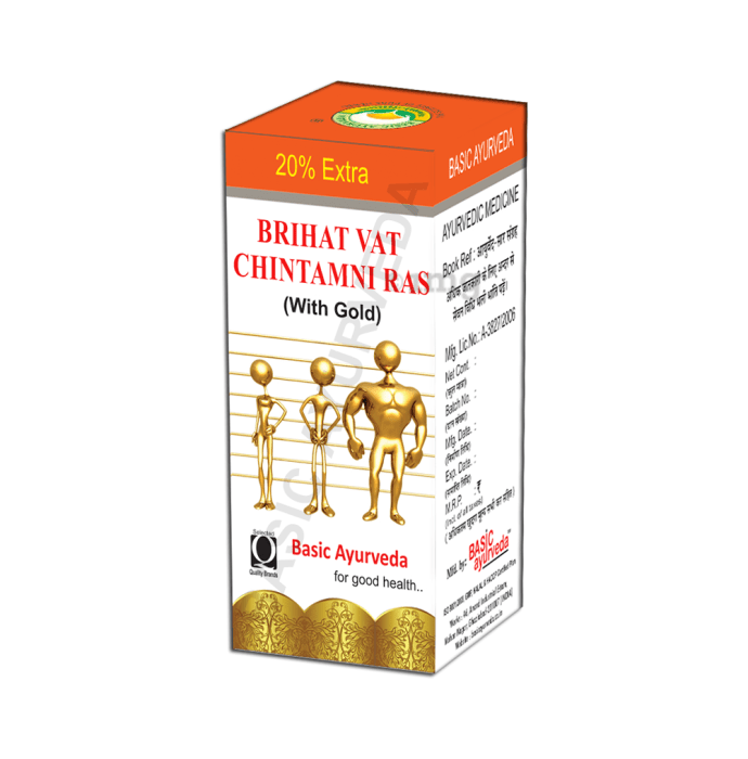 Basic Ayurveda Brihat Vat Chintamani Ras with Gold