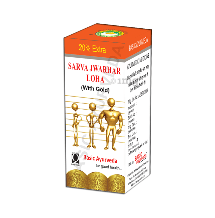 Basic Ayurveda Sarva Jwarhar Loh with Gold