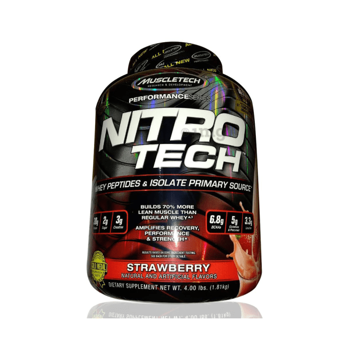 Muscletech Performance Series Nitro Tech Whey Isolate Strawberry