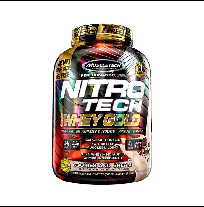 Muscletech Performance Series Nitro Tech Whey Gold Cookies & Cream