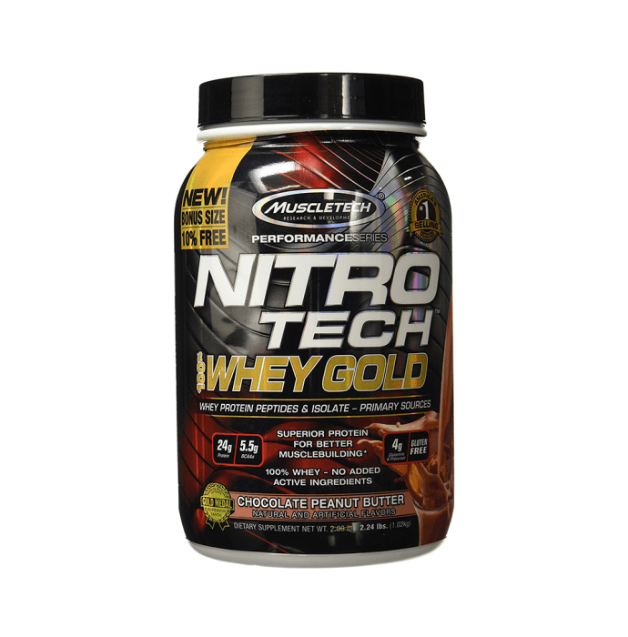 Muscletech Performance Series Nitro Tech Whey Gold Chocolate Peanut Butter