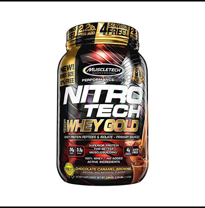 Muscletech Performance Series Nitro Tech Whey Gold Chocolate Caramel Brownie