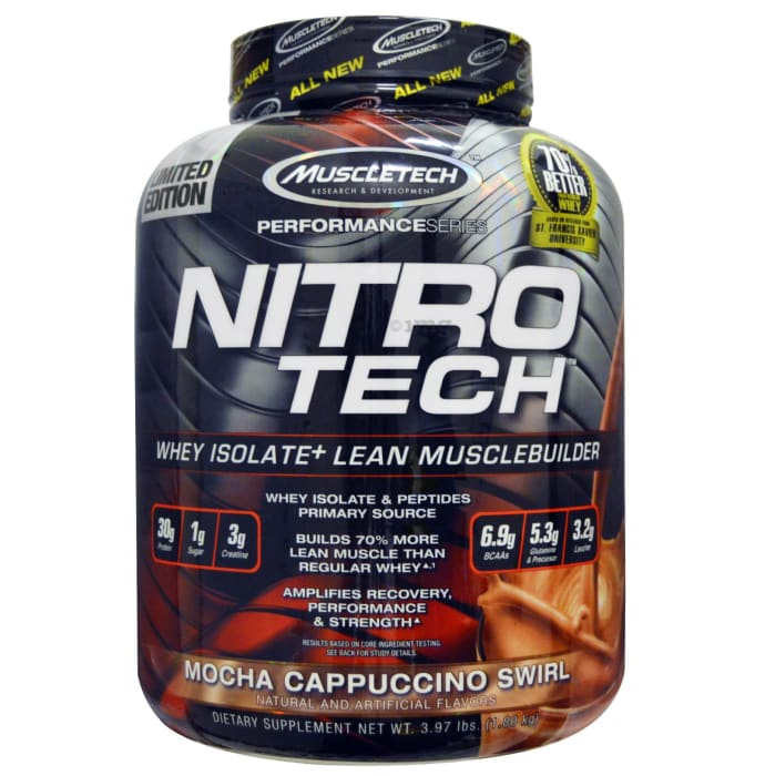 Muscletech Performance Series Nitro Tech Whey Isolate Mocha Cappuccino Swirl