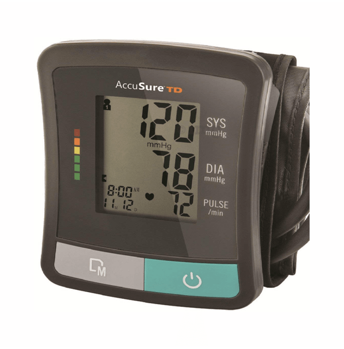 AccuSure TD-1209 Advanced Features BP Monitor with Adapter