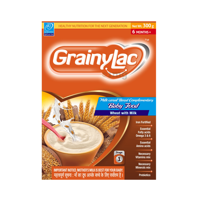 GrainyLac Wheat with Milk Baby Food 6 Months Plus
