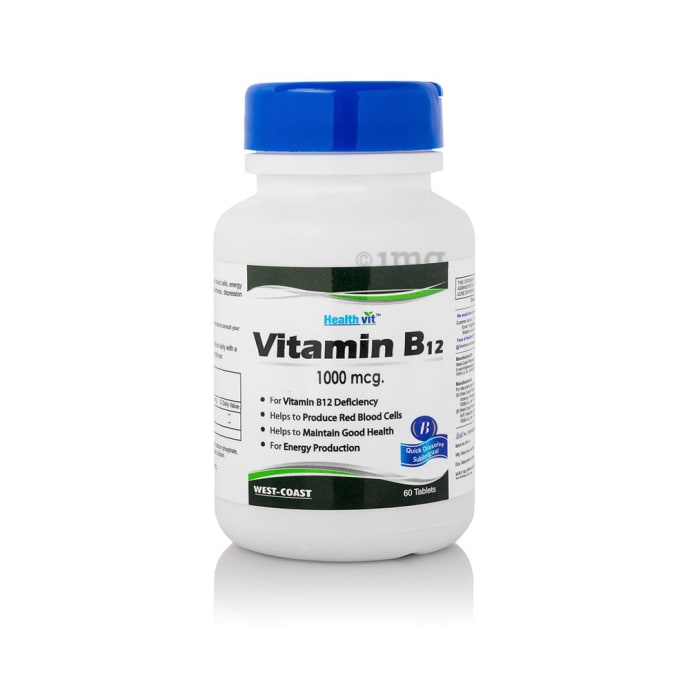 HealthVit Vitamin B12 1000mcg Tablet