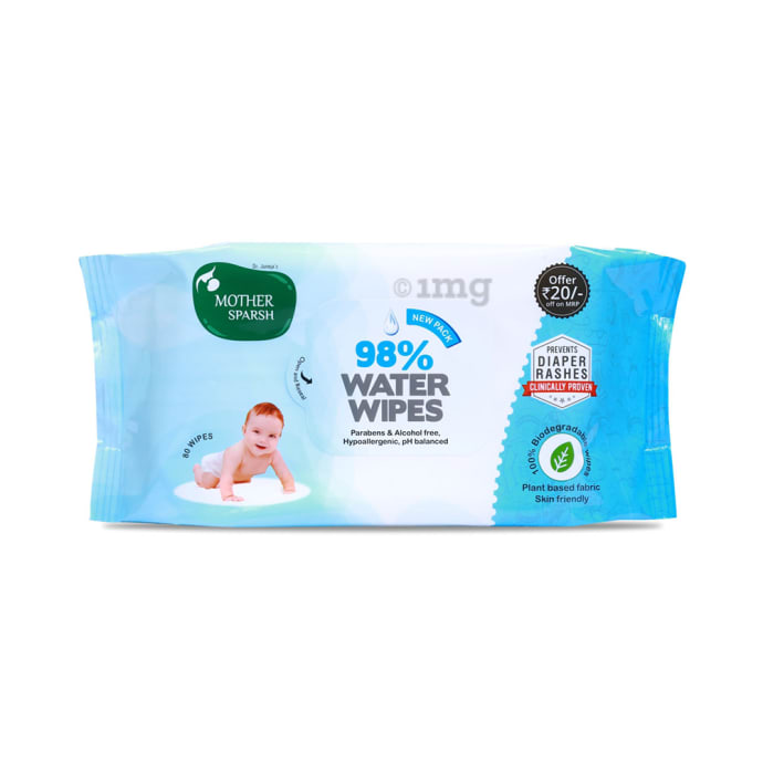 Mother Sparsh 98% Water Wipes