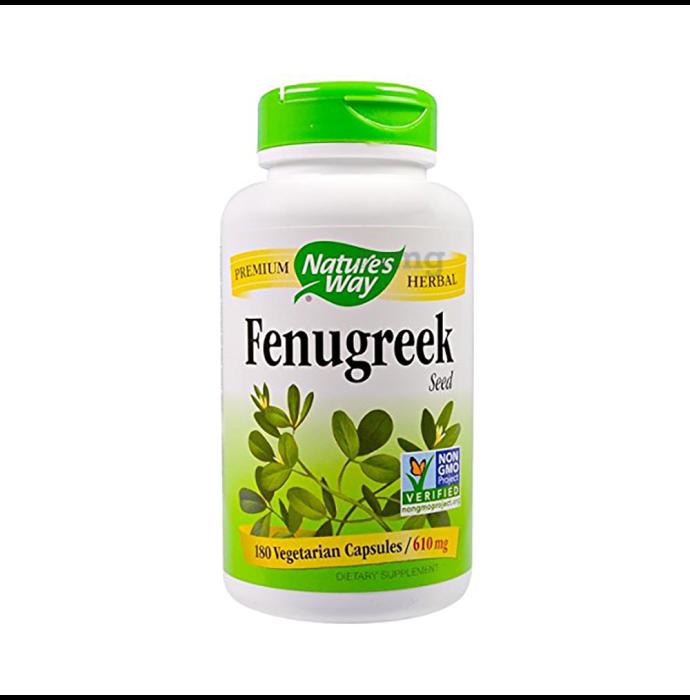 Nature's Way Fenugreek Seed 610mg Vegetarian Capsule