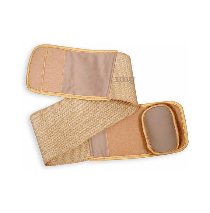 Wonder Care A111 Umbilical Hernia Support Belt - Belly Button Hernia Navel Truss Brace with Foam Pressure Pad L