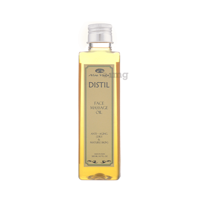 Aloe Veda Distil Face Massage Oil Anti-Aging Dry Skin