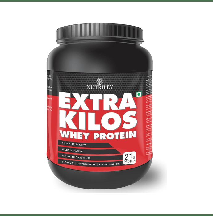 Nutriley Extra Kilos Whey Protein Powder Strawberry
