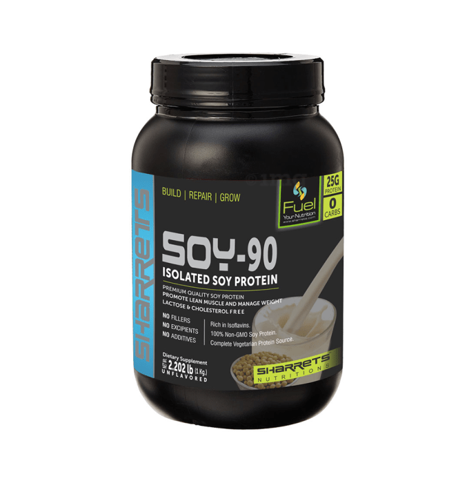 Sharrets Isolated Soy Protein 90% Powder Unflavoured