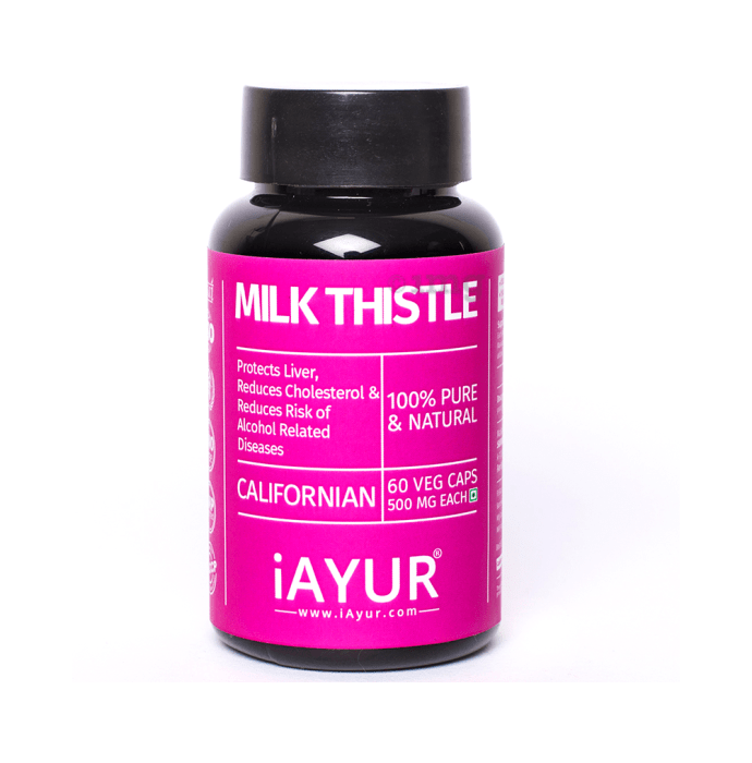 iAYUR Milk Thistle Extract 500mg Veg Capsule