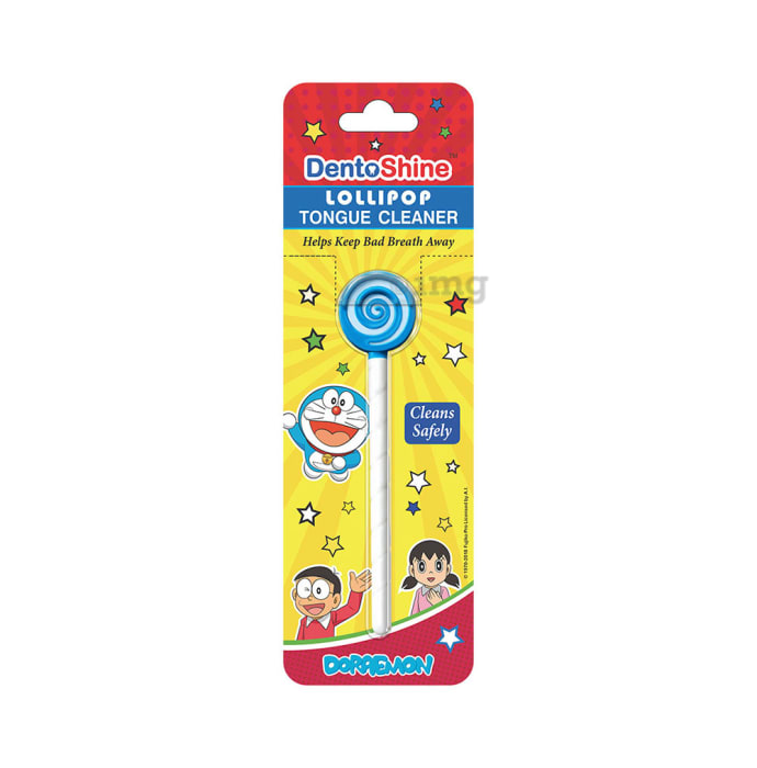 DentoShine Lollipop Tongue Cleaner for Kids Blue