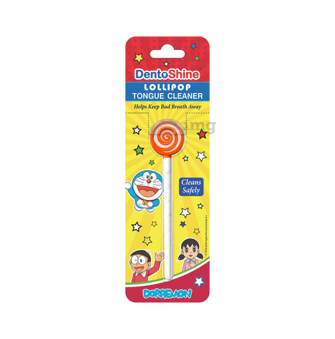 DentoShine Lollipop Tongue Cleaner for Kids Orange