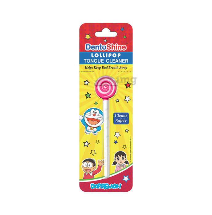 DentoShine Lollipop Tongue Cleaner for Kids Pink