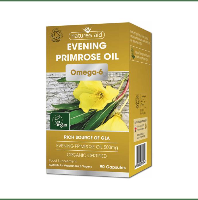 Natures Aid Organic Evening Primrose Oil 500mg Capsule
