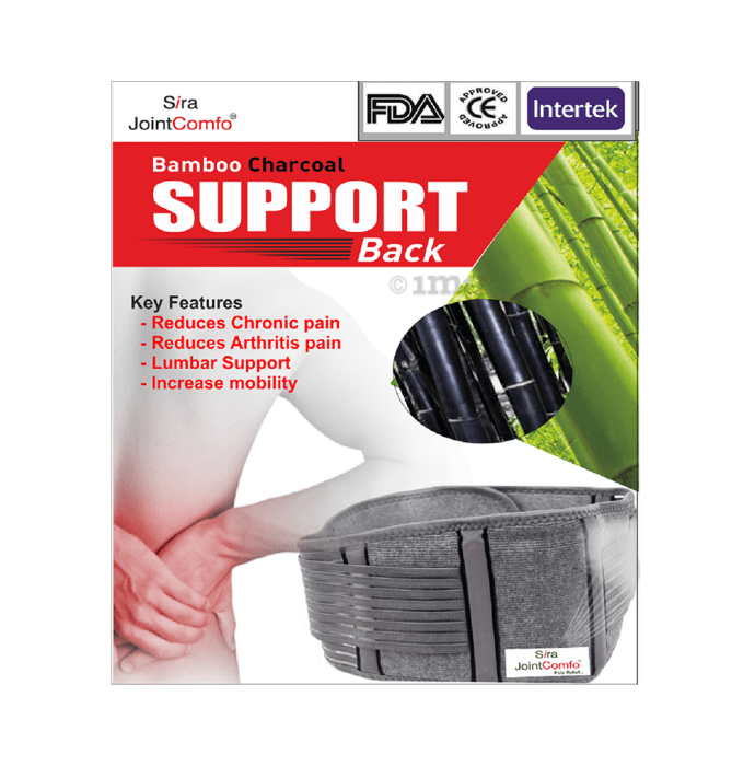 Sira Bamboo Charcoal Support Back Belt L