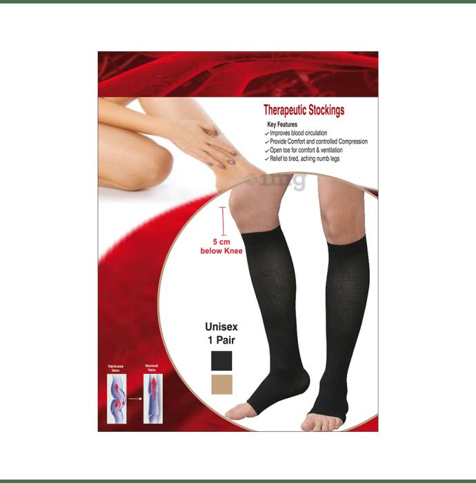 Sira Beauty Medical Vericose Grade I Pair of Stockings L Black