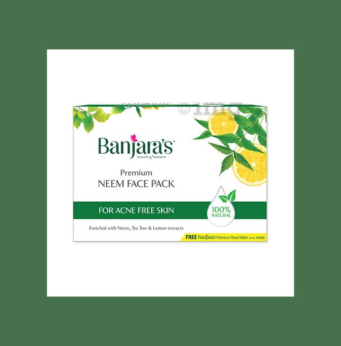 Banjara's Premium Neem Face Pack with Rose Water 30ml Free