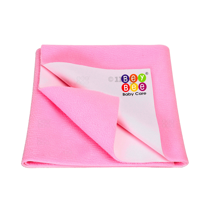 Bey Bee Waterproof Baby Bed Protector Dry Sheet for New Born Babies (70cm X 50cm) S Pink
