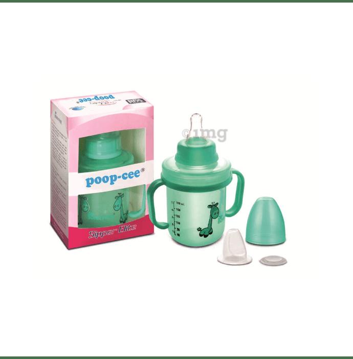 Dimpu Poop-cee Sipper Elite Printed Round Shape Feeding Bottle with Handle