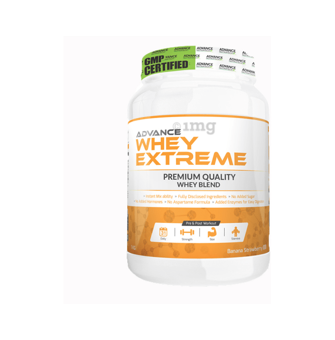 Advance Nutratech Whey Extreme Protein Powder Banana Strawberry