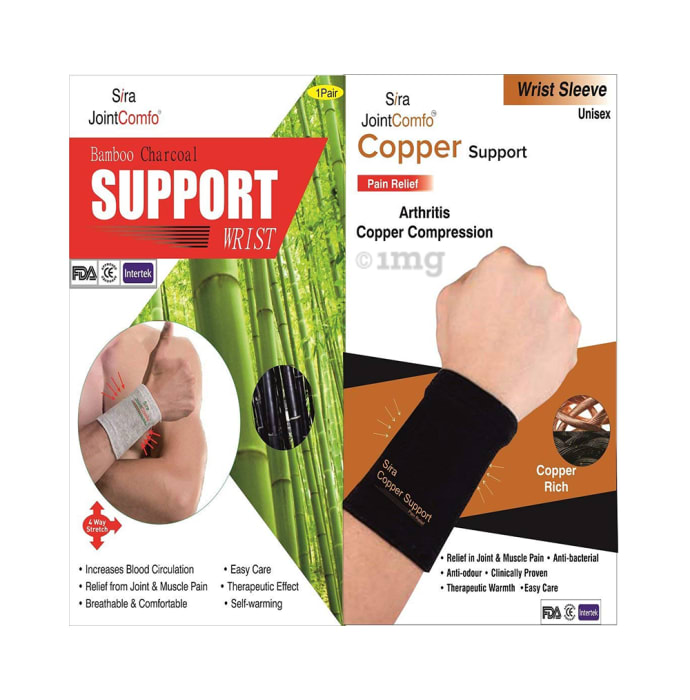 Sira Bamboo Charcoal Wrist Support S