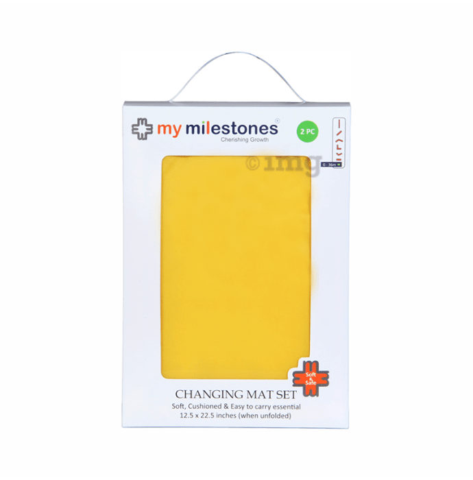 My Milestones Changing Mat Set Yellow