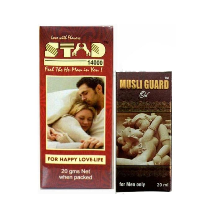 G & G Pharmacy Combo Pack of Stud 14000 Spray 20gm and Musli Guard Oil 20ml