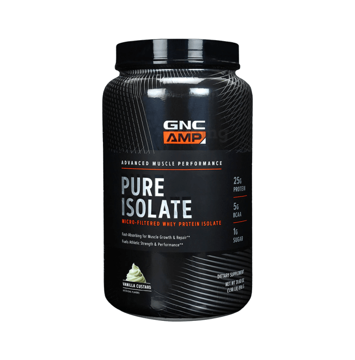 GNC AMP Pure Isolate Vanilla Custard