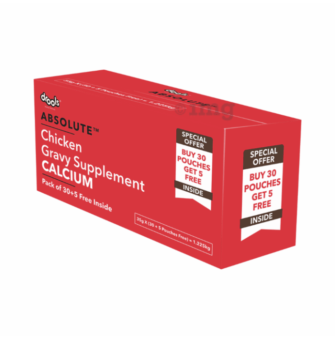 Drools Absolute Calcium Gravy Supplement for Dog (35gm Each) Chicken Flavour