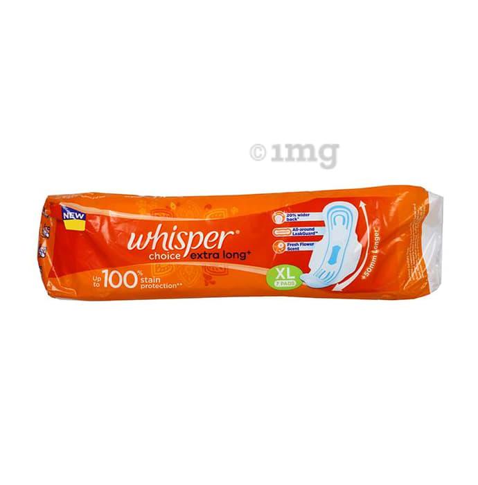 Whisper Choice Wings Sanitary  Pads XL Extra Long Plus