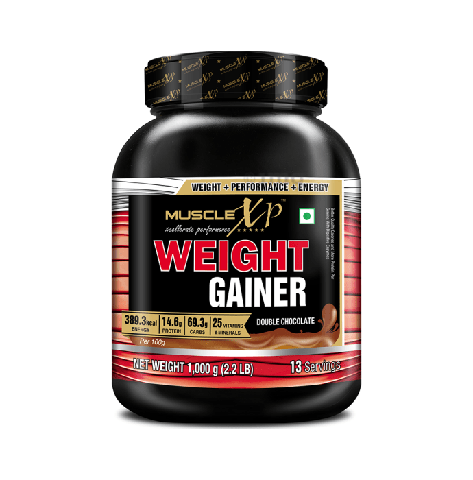 MuscleXP Weight Gainer Powder Double  Chocolate