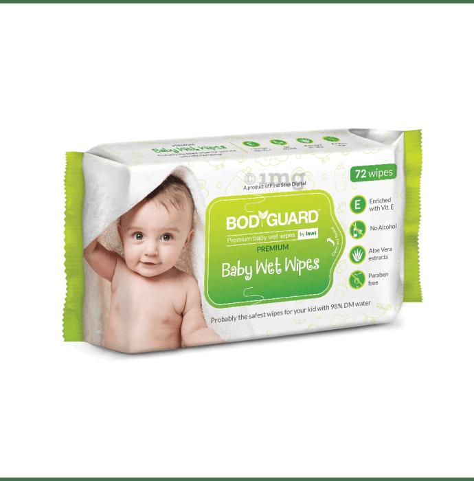 Bodyguard Premium Paraben Free Baby Wet Wipes with Aloe Vera